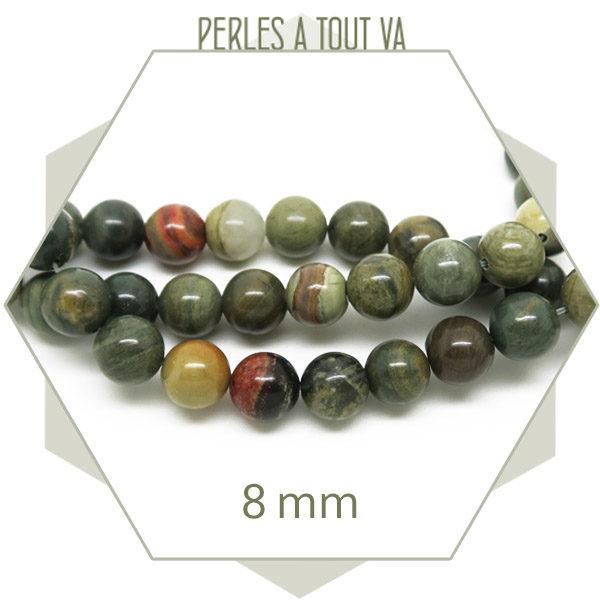 Achat perles de jaspe en lot