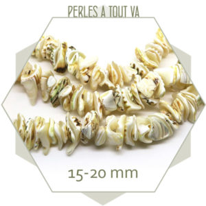 Rang perles chips coquillage