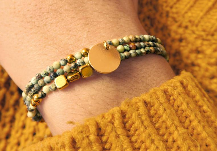 Tuto bracelets 3 tours en pierres naturelles