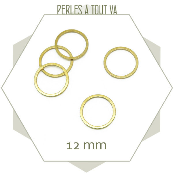 Grossiste matériel anneaux acier doré