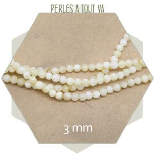 Vente perles rondes nacrées