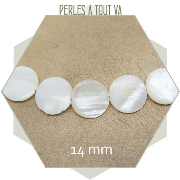 Vente perles plates nacrées