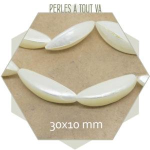 Vente perles gousses nacrées