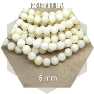 Grossiste matériel perles rondes nacres