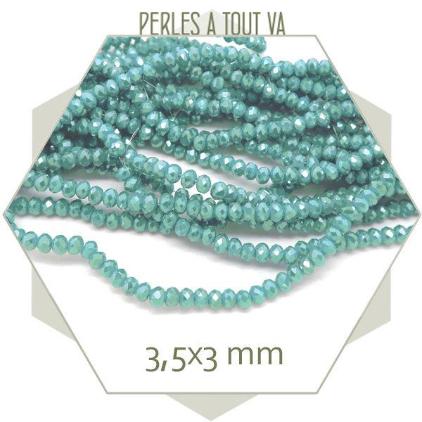 Rang de perles donut bleu irisé