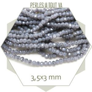 Grossiste perles donut à facettes en verre