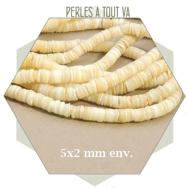 Grossiste perles heishi coquillage