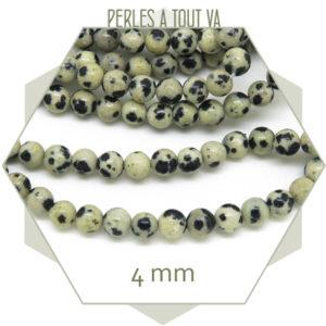 Petites perles de jaspe dalmatien