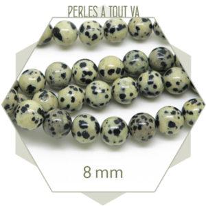 Vente en gros de perles jaspe dalmatien