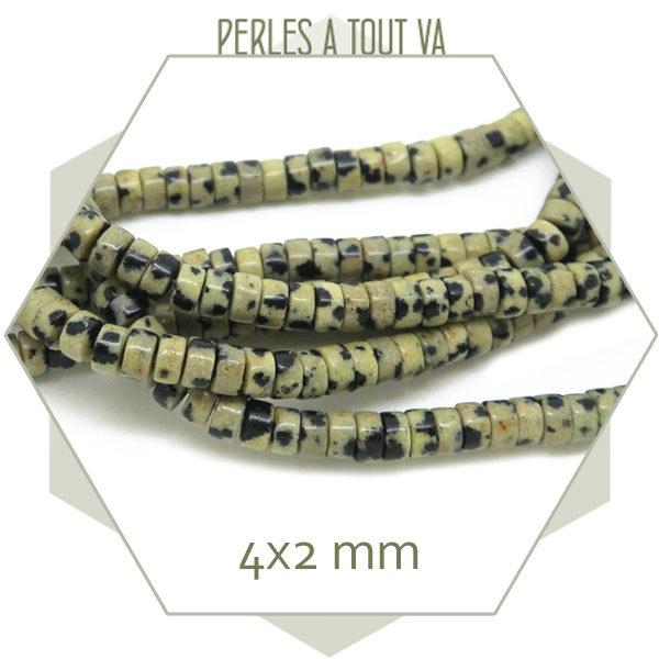 Fournisseur perles rondelles jaspe dalmatien