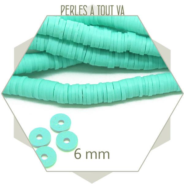 grossiste perles heishi vert