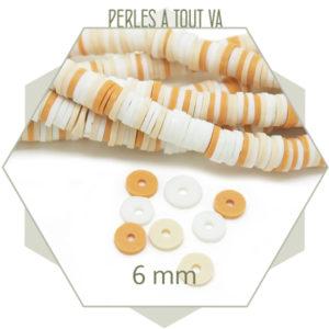 grossiste perles heishi mix caramel