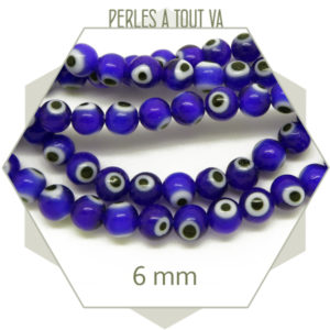 Fournisseur perles oeil turc 6 mm