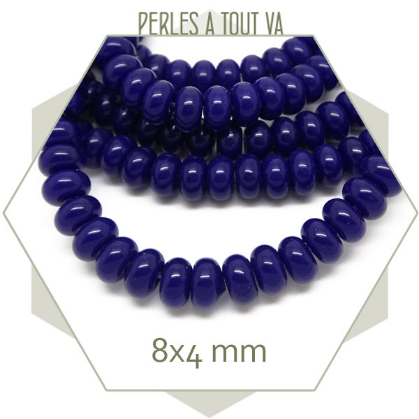 Vente de perles rondelles en verre