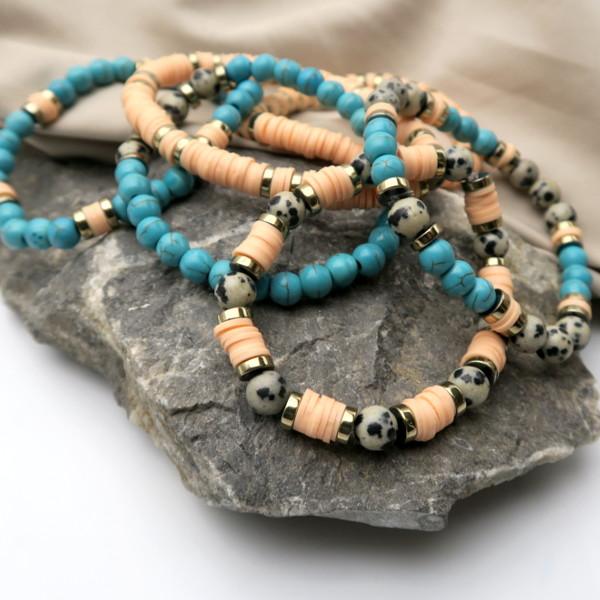 modèle bracelets perles heishi