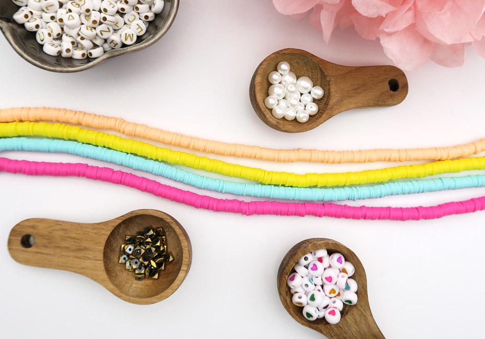 idée bijou perles heishi