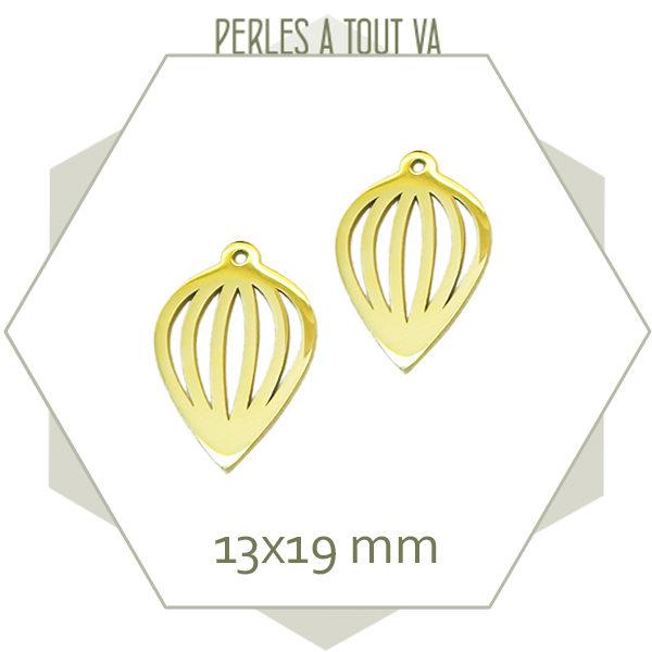 Vente joli pendentif en acier doré