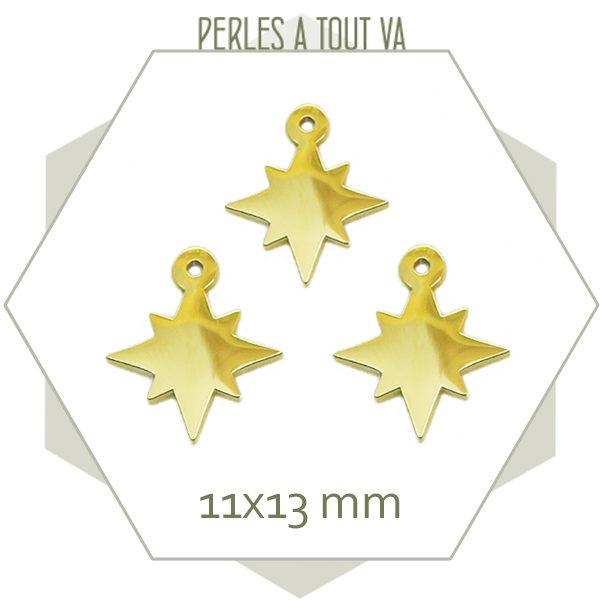 Fournisseur breloque étoile en acier doré