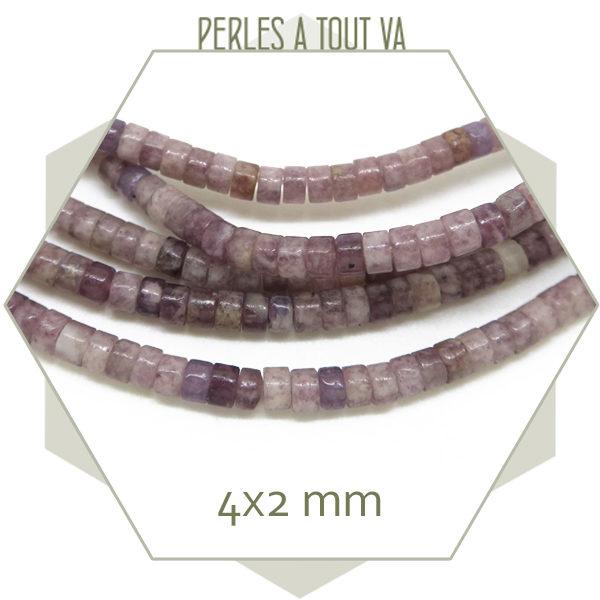 Vente perles heishi en pierre jade
