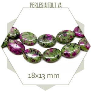 Grossiste perles pierre zoisite ovale