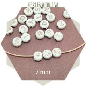 Vente perles lettre en gros