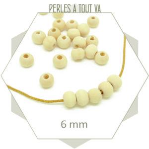 Fournisseur perles en bois brut clair